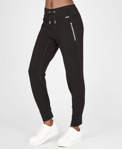 Rhythm Merino Trousers, Black | Sweaty Betty