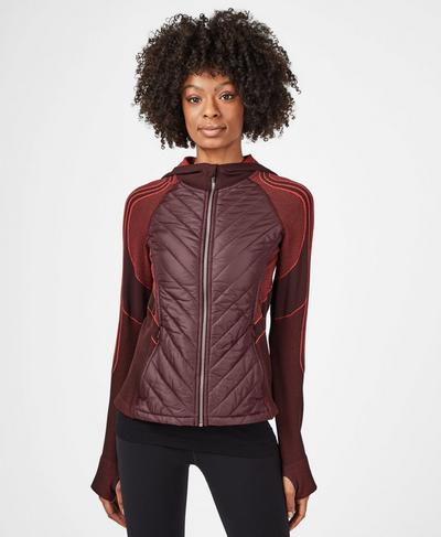 Speedy Seamless Running Jacket, Black Cherry Tulip Red | Sweaty Betty