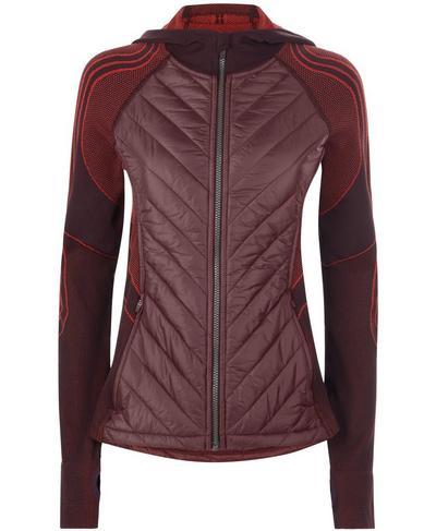 Speedy Seamless Running Jacket, Black Cherry Tulip Red | Sweaty Betty
