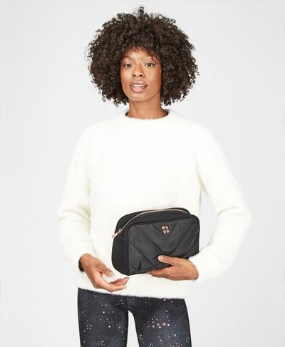 Icon Quilted Workout Pouch, Black   Sweaty Betty