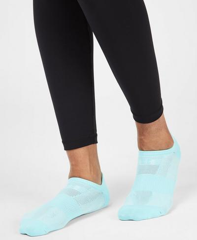 Lightweight Workout Socks, Angel Blue | Sweaty Betty