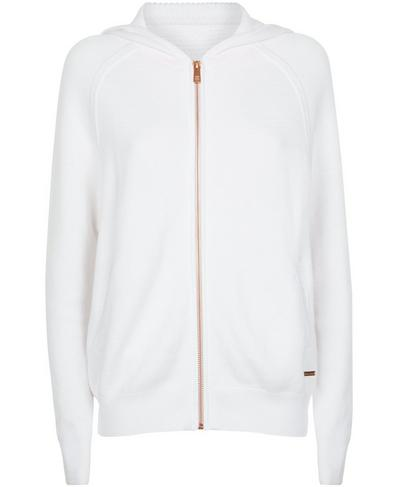 Fulham Cashmere Blend Hoodie, White | Sweaty Betty
