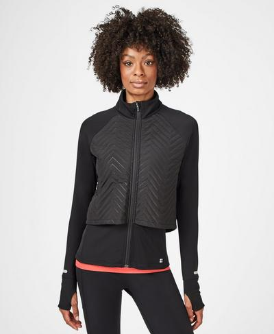 Fast Track Thermal Running Jacket, Black | Sweaty Betty