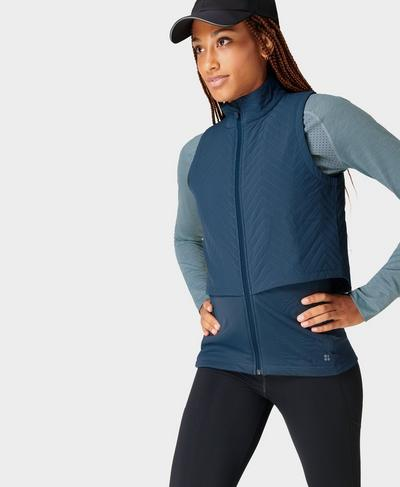 Fast Track Thermal Running Vest, Nordic Blue | Sweaty Betty