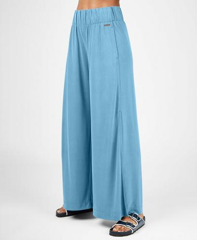 Peaceful Split Pants, Stellar Blue | Sweaty Betty