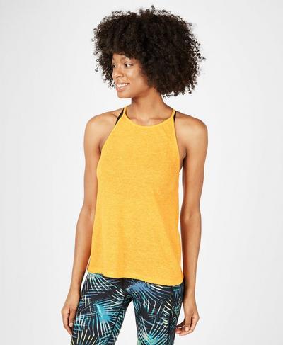 Strappy Back Yoga Tank, Zinnia Yellow | Sweaty Betty