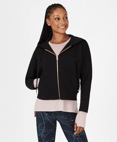 Cool It Hoodie, Black | Sweaty Betty