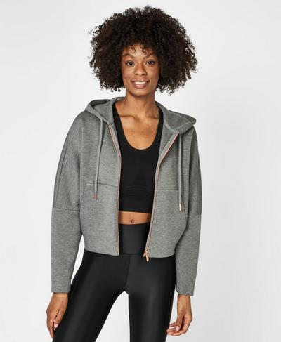 Cool It Hoodie, Charcoal Marl | Sweaty Betty