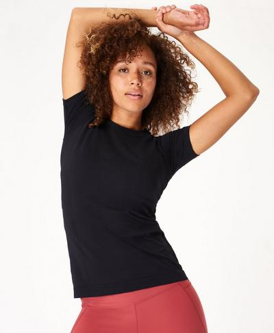 Athlete Seamless Gym T-shirt, Black | Sweaty Betty
