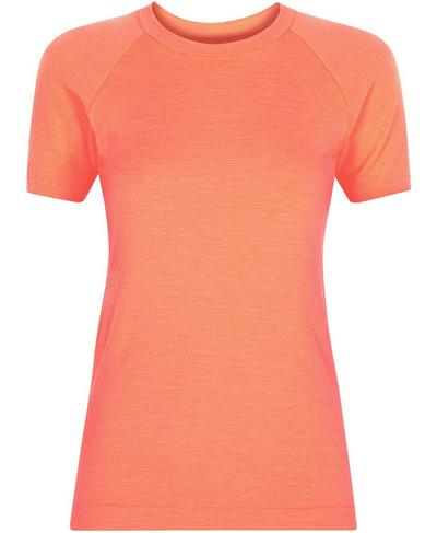 Athlete Seamless Gym T-shirt, Fluro Flash Pink | Sweaty Betty
