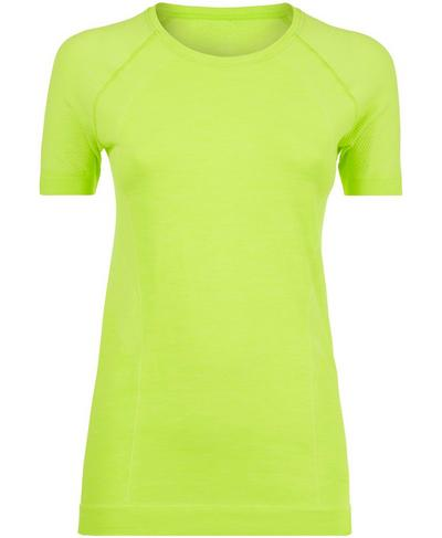 Athlete Seamless Gym T-shirt, Lime Punch Green | Sweaty Betty