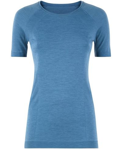 Athlete Seamless Gym T-shirt, Stellar Blue | Sweaty Betty