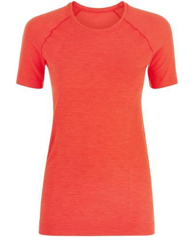 Athlete Seamless Gym T-shirt, Tulip Red | Sweaty Betty
