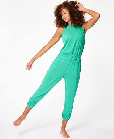 Open Back Racer Jumpsuit, Lime Gello Green | Sweaty Betty