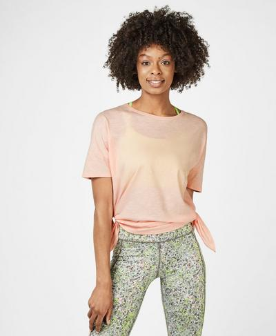 Handkerchief Hem T-Shirt, Liberated Pink | Sweaty Betty