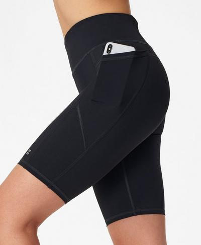 "Zero Gravity 9"" Biker Shorts, Black | Sweaty Betty"