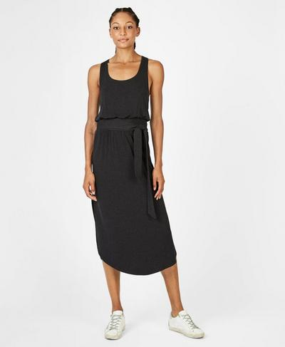 Athena Dress, Black Marl | Sweaty Betty