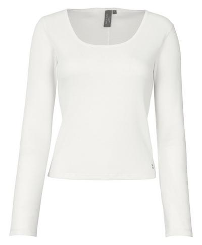 Tadasana Ribbed Yoga Top, Lily White | Sweaty Betty