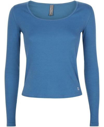 Tadasana Ribbed Yoga Top, Stellar Blue | Sweaty Betty