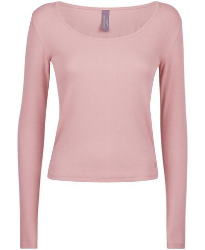 Tadasana Ribbed Yoga Top, Velvet Rose Pink | Sweaty Betty