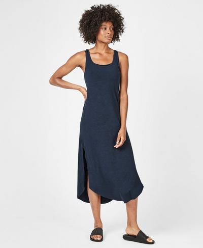 Hera Dress, Beetle Blue Marl | Sweaty Betty