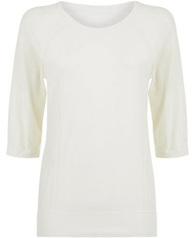 Dharana Yoga T-shirt, Lily White | Sweaty Betty