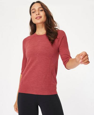 Dynamic Seamless Yoga Top, Renaissance Red Marl | Sweaty Betty