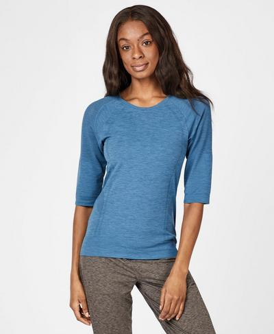 Dharana Yoga T-shirt, Stellar Blue | Sweaty Betty