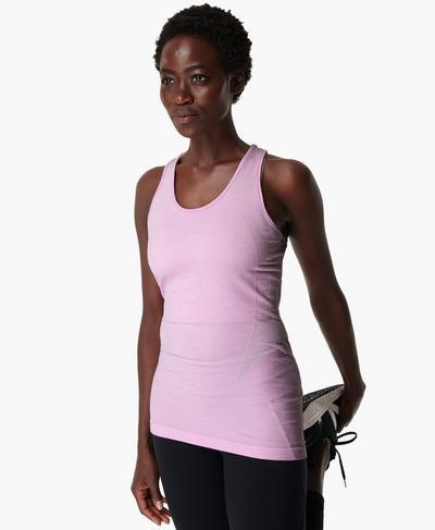 Athlete Seamless Gym Vest, Aster Purple | Sweaty Betty