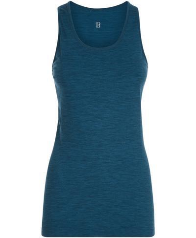 Athlete Seamless Gym Vest, Beetle Blue | Sweaty Betty