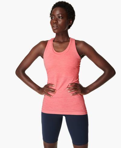 Athlete Seamless Gym Vest, Calypso Pink | Sweaty Betty