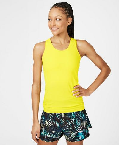 Athlete Seamless Gym Vest, Canary Yellow | Sweaty Betty