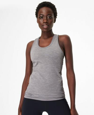 Athlete Seamless Gym Vest, Charcoal Grey | Sweaty Betty