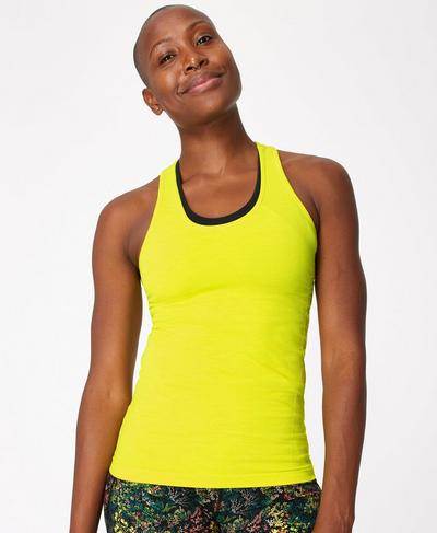 Athlete Seamless Gym Vest, Citrus Green | Sweaty Betty