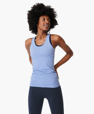 Athlete Seamless Workout Tank, Cornflower Blue | Sweaty Betty
