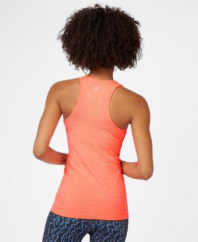Athlete Seamless Workout Tank, Fluro Flash Pink | Sweaty Betty