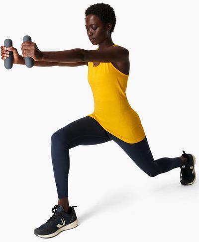 Athlete Seamless Gym Vest, Golden Yellow | Sweaty Betty