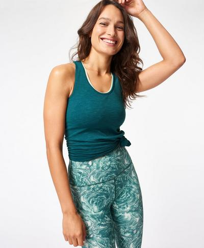 Athlete Seamless Gym Vest, June Bug Green | Sweaty Betty