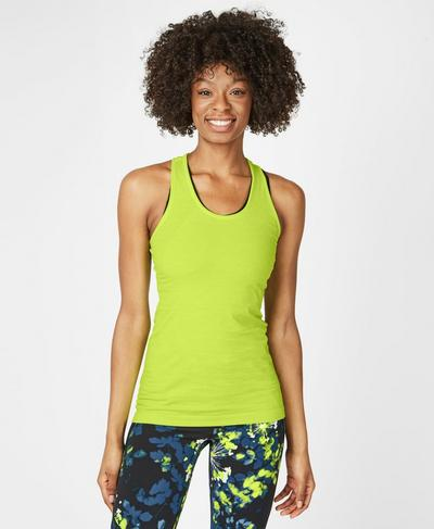 Athlete Seamless Workout Vest, Lime Punch Green | Sweaty Betty