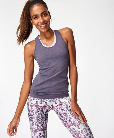 Athlete Seamless Workout Tank, Moonrock Purple | Sweaty Betty