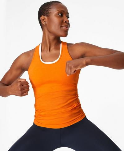 Athlete Seamless Gym Vest, Murcott Orange | Sweaty Betty