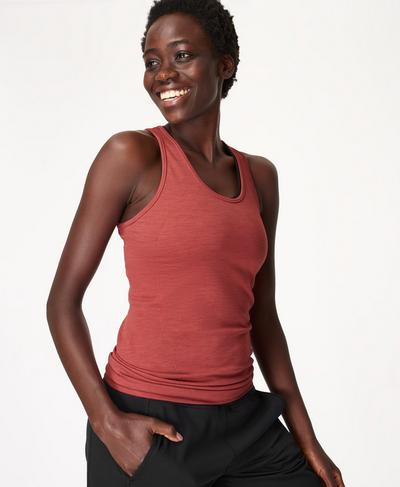 Athlete Seamless Gym Vest, Renaissance Red | Sweaty Betty