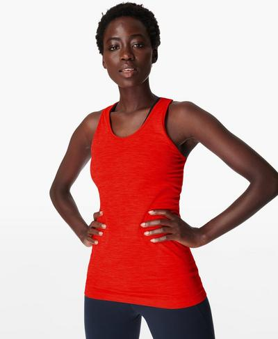 Athlete Seamless Workout Tank, Rich Red | Sweaty Betty