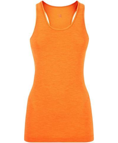 Athlete Seamless Gym Vest, Shocking Orange | Sweaty Betty