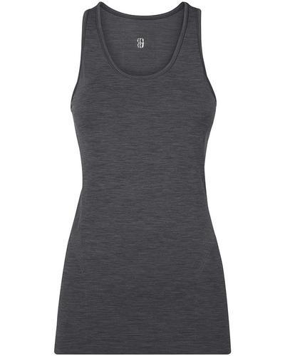 Athlete Seamless Workout Tank, Slate Grey | Sweaty Betty