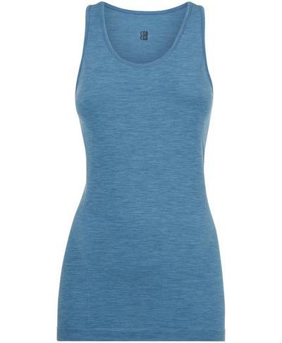 Athlete Seamless Gym Vest, Stellar Blue | Sweaty Betty