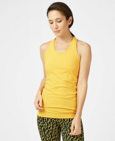 Athlete Seamless Tank, Turmeric Yellow | Sweaty Betty