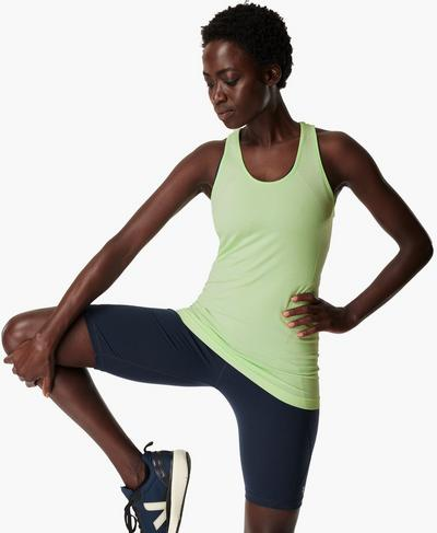 Athlete Seamless Workout Tank, Utopia Green | Sweaty Betty