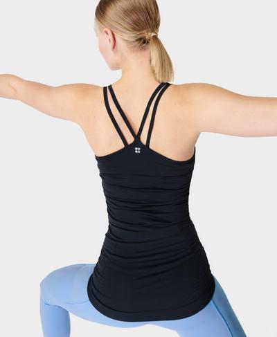Namaska Yoga Tank, Black | Sweaty Betty