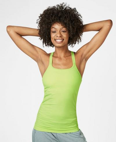 Namaska Bamboo Yoga Tank, Green Alert | Sweaty Betty